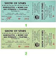 The Platters Vintage Ticket
