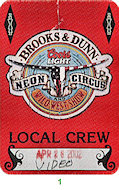 Brooks & Dunn Backstage Pass
