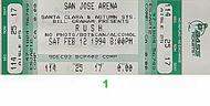 Rush1990s Ticket