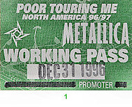 Metallica Backstage Pass
