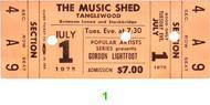 Gordon Lightfoot1970s Ticket