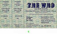 The Who 1970s Ticket