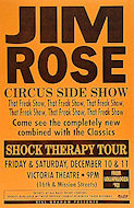 Jim Rose Circus Side Show Poster