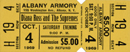 Diana Ross & The Supremes Vintage Ticket
