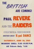 Paul Revere and the Raiders Poster