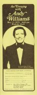 Andy Williams Handbill
