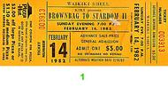 Brownbags to Stardom II Vintage Ticket