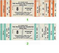 Manhattan Transfer Vintage Ticket