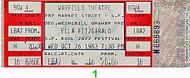 Ella Fitzgerald 1980s Ticket
