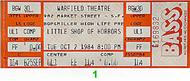 Little Shop of Horrors 1980s Ticket