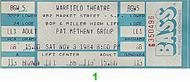 Pat Metheny Group1980s Ticket