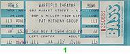 Pat Metheny Group 1980s Ticket