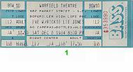 Rickie Lee Jones 1980s Ticket