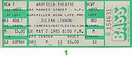 Julian Lennon 1980s Ticket