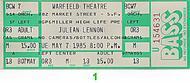 Julian Lennon1980s Ticket