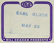 Earl KlughBackstage Pass