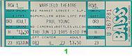Paul Young and the Royal Family 1980s Ticket