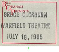 Bruce Cockburn Backstage Pass