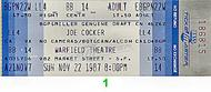 Joe Cocker 1980s Ticket