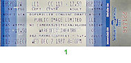 Public Image Limited Vintage Ticket