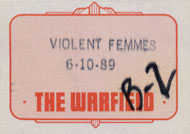 Violent Femmes Backstage Pass