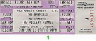 Violent Femmes 1980s Ticket
