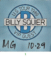 Billy Squier Backstage Pass