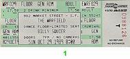 Billy Squier 1980s Ticket