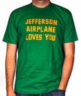 Jefferson Airplane Men's Retro T-Shirt from Oct 24, 1968