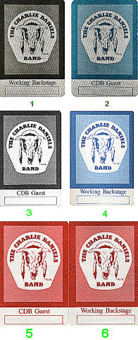 The Charlie Daniels Band Backstage Pass