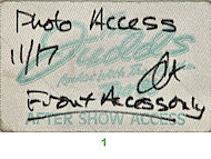 The JuddsBackstage Pass