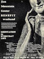 Zen Mountain Center Benefit Poster