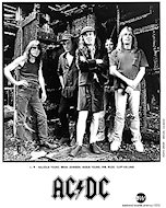 AC/DC Promo Print from