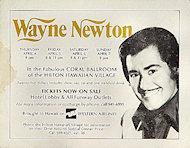 Wayne NewtonHandbill