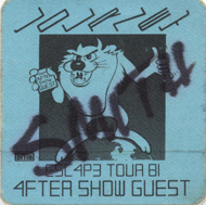 Journey Backstage Pass
