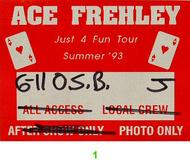 Ace Frehley Backstage Pass