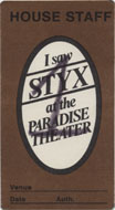 Styx Backstage Pass
