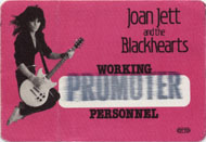 Joan Jett & The Blackhearts Backstage Pass