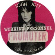 Joan Jett & The Blackhearts Backstage Pass