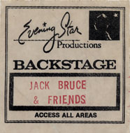 Jack Bruce and Friends Backstage Pass
