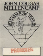 John Cougar Mellencamp Backstage Pass