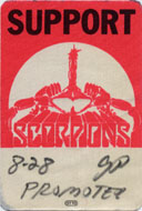 Scorpions Backstage Pass