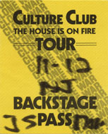 Culture Club Backstage Pass