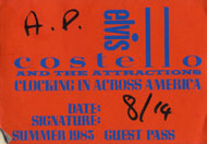 Elvis Costello & the Attractions Backstage Pass