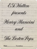 Henry Mancini and The Boston Pops Backstage Pass