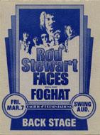 Rod Stewart Backstage Pass