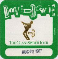 David Bowie Backstage Pass