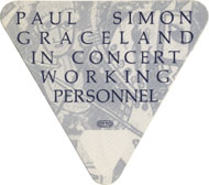 Paul Simon Backstage Pass