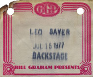 Leo Sayer Backstage Pass