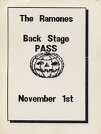 The Ramones Backstage Pass